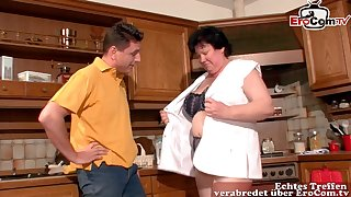 German fat ugly housewife fuck in larder