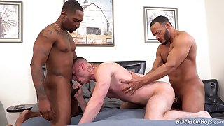 Black hunks fucks  a gay lad and cum her high horse bore