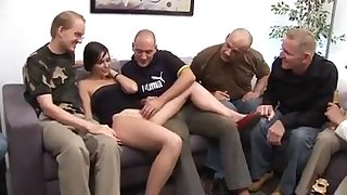 Silvia Rubi - Spanish Girl + German Males Gangbang
