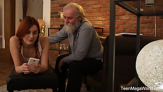 Teen in hell to pigtails Charli Peppery pussy pounded by a grandpa