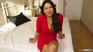 Bosomy and fat assed milf Candi Coxx is fucked overwrought one young dude