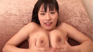 Bonny busty Japanese Hana Haruna is making an amazing BJ