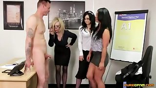 Good co-workers - hot CFNM porn motion picture