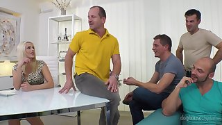 Before You Leave - Hot Office Gangbang