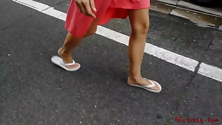 Mistress Kym on foot bare feet POV