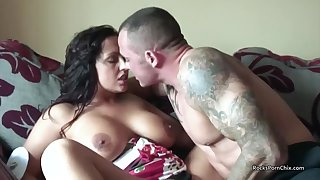 Hardcore Having it away With A Big Boobed British MILF - HD homemade with cumshot