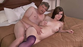 Wakes Up Grandpa with an increment of Vindicate Some Fun - old with an increment of young sex with cumshot