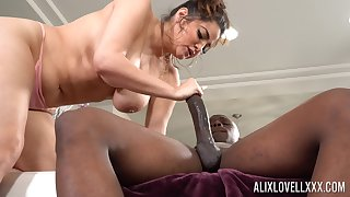 Monster dick in stingy pussy of chubby waxen lady Alix Lovell